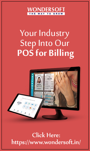 Best POS Billing Software For Jewelery Shop On Display.